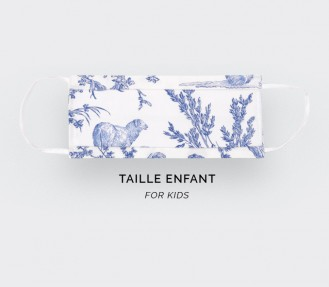 Toile de Jouy face mask for...