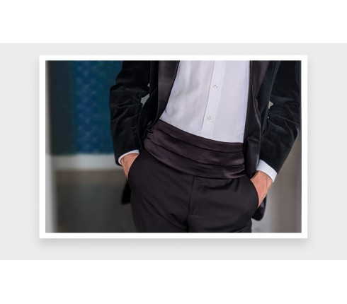cummerbund made of black silk satin