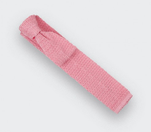 Cravate Tricot Rose - Cinabre paris