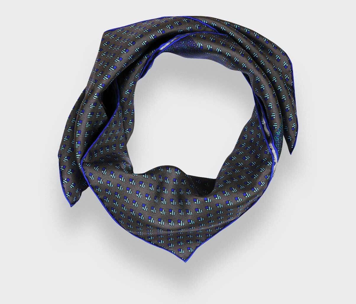 Grey Grand Pan Bandana - Made in France - Cinabre Paris