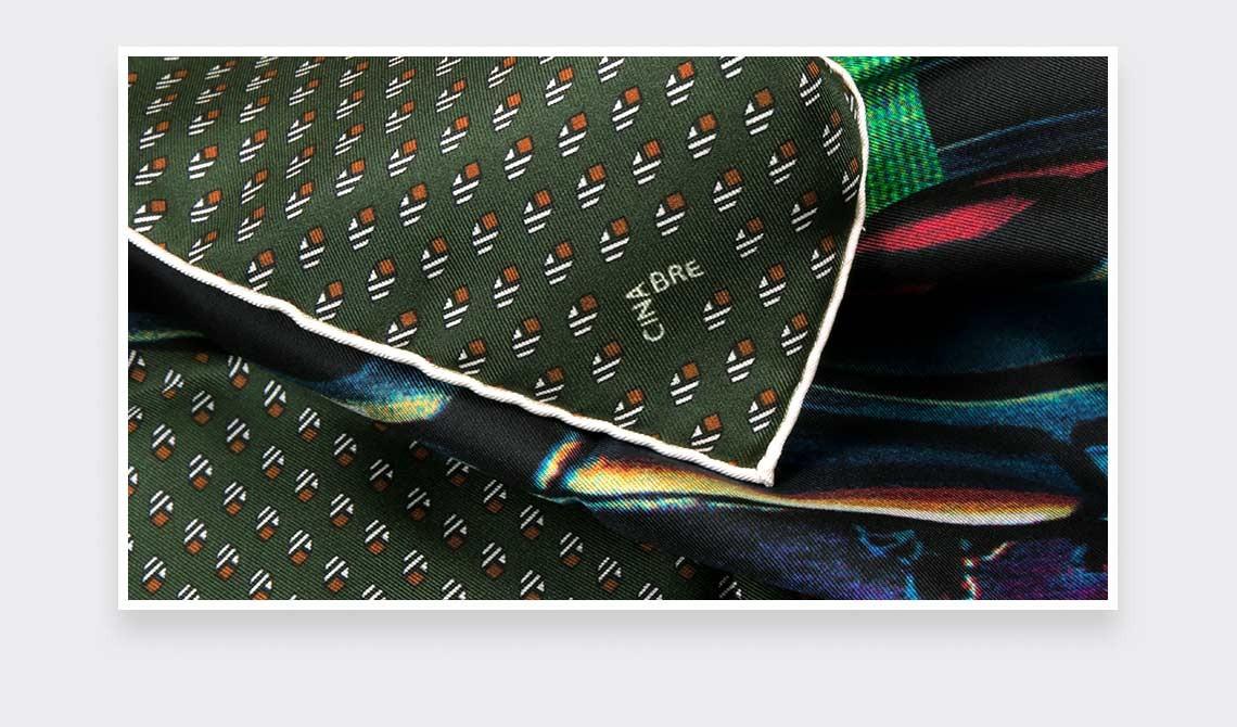 Khaki Grand Pan Bandana - Made in France - Cinabre Paris