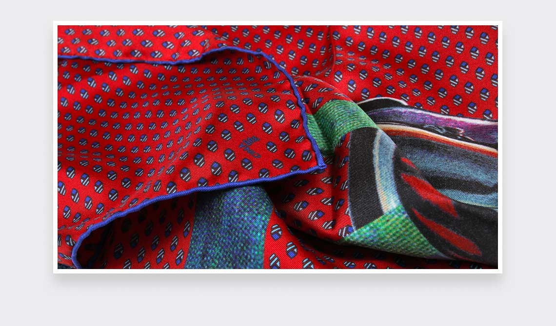 Red Grand Pan Bandana - Made in France - Cinabre Paris