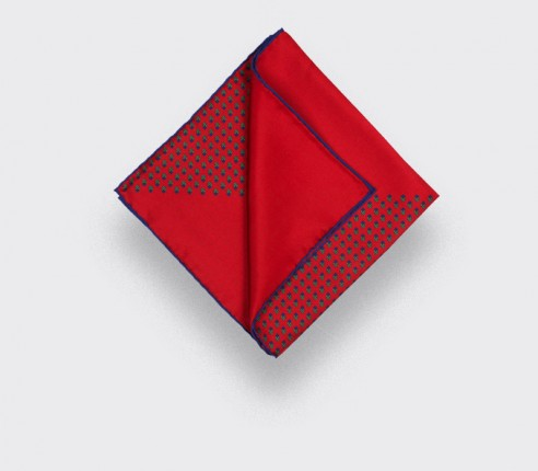 Red Grand Pan Pocket Square- Cinabre Paris