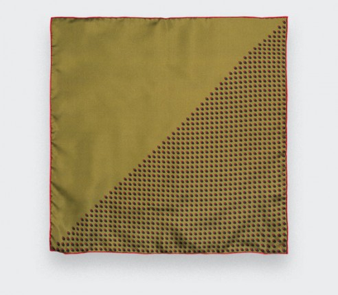 Mustard Grand Pan Pocket Square - Cinabre Paris