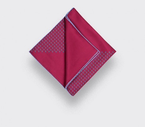 Fuchsia Grand Pan Pocket Square - Cinabre Paris