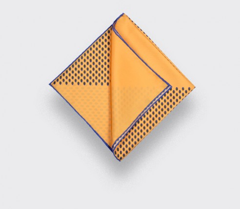 Yellow Grand Pan Pocket Square - Cinabre Paris
