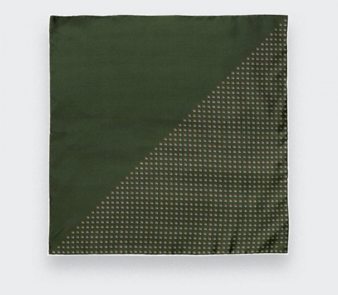 Khaki Grand Pan Pocket Square - Cinabre Paris