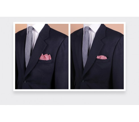 CINABRE Paris - Pocket square - Pink Mesh - Hand Made