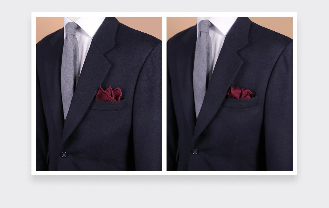 CINABRE Paris - Pocket square - Burgundy woven silk - Hand Made