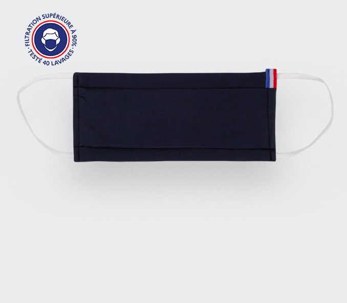 Masque Bleu Marine Cinabre - Made in France