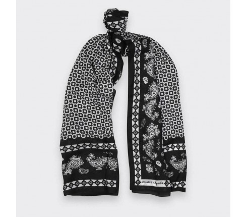 Scarf Paris x Los Angeles black and white