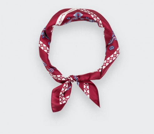 Bandana Paris x Los Angeles Burgundy by Cinabre made in France