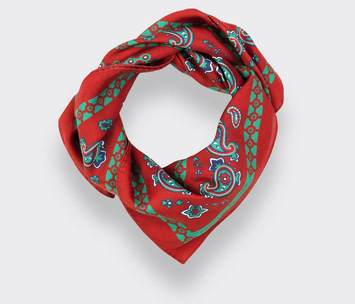 Paris x Los Angeles Red Bandana - Cinabre Paris x Esquivel