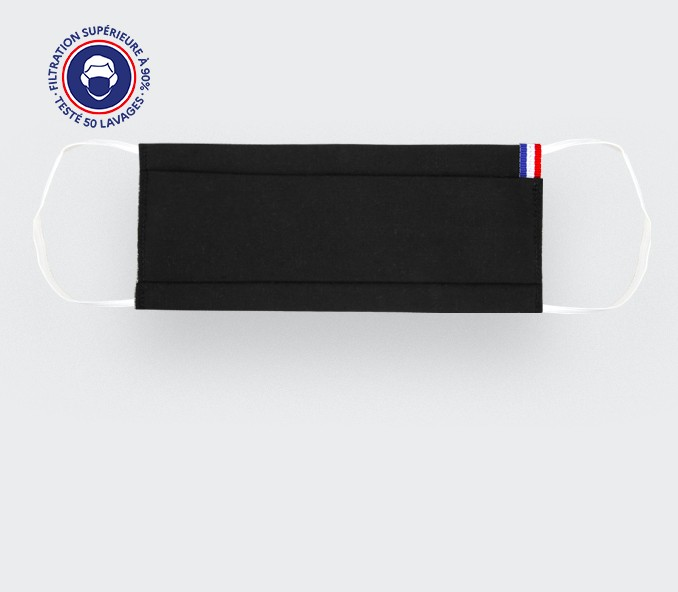 Black French face mask