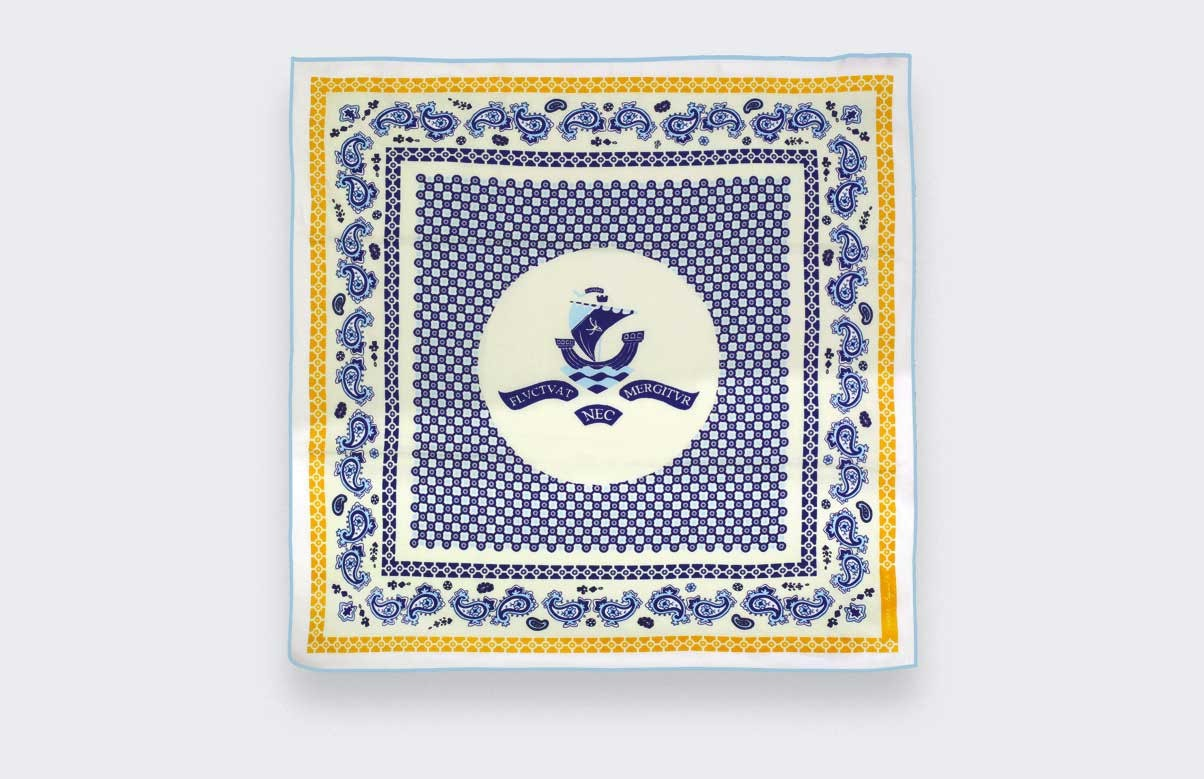 Cream Bandana Paris x Los Angeles - Cinabre Paris x Esquivel