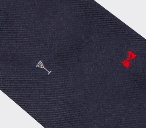 Cravate Troisième Mi-Temps - Fabriquée en France par Cinabre Paris