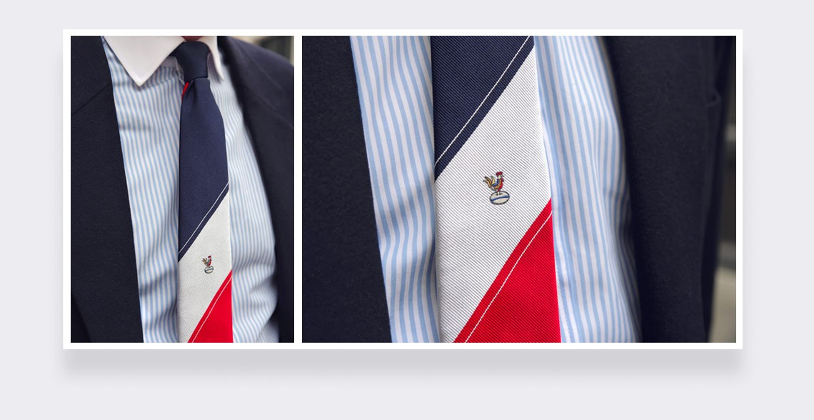 XV de France Tie - made in France by Cinabre Paris
