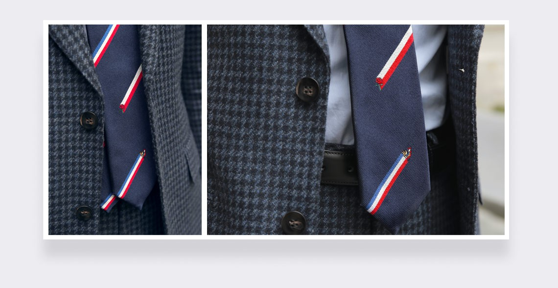 Le Crunch Tie - made in France by Cinabre Paris