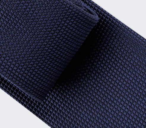 Navy Blue Lizard Tie - silk - Cinabre Paris