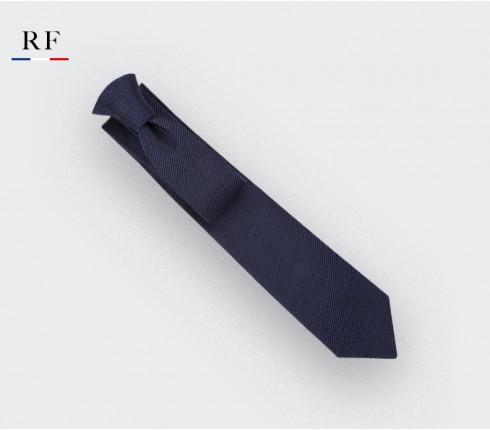 Cravate Twill 3D Marine - soie - Cinabre Paris