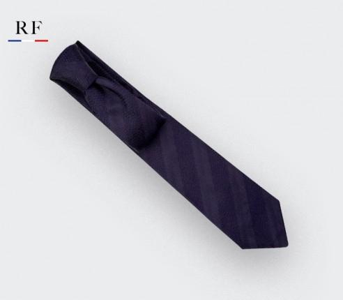 Navy blue shades Club Tie - silk - Cinabre Paris