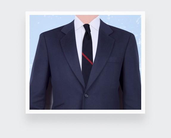 Red Single Stripe Tie - Cinabre Paris