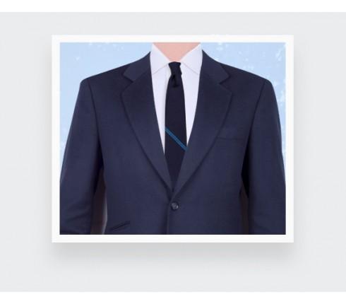 Blue Single Stripe Tie - Cinabre Paris