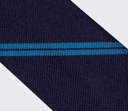 Cravate Monorayure Bleue - Cinabre Paris
