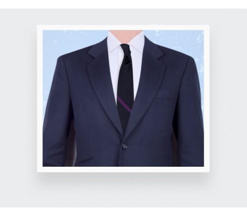 Purple Single Stripe Tie - Cinabre Paris