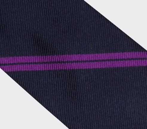 Cravate Monorayure Violet - Cinabre Paris