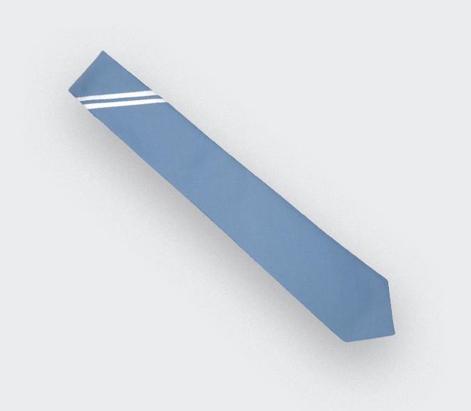 Sky Single Stripe Tie - Cinabre Paris