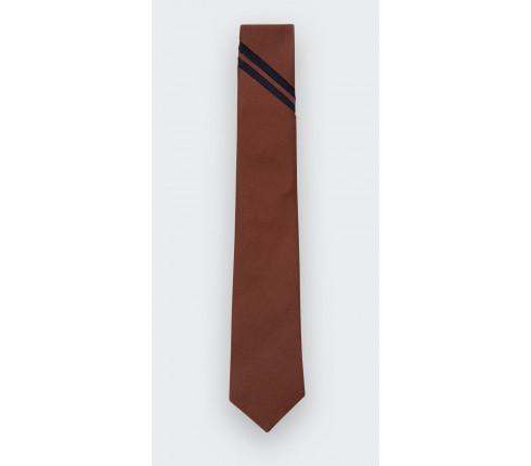 Rust Single Stripe Tie - Cinabre Paris
