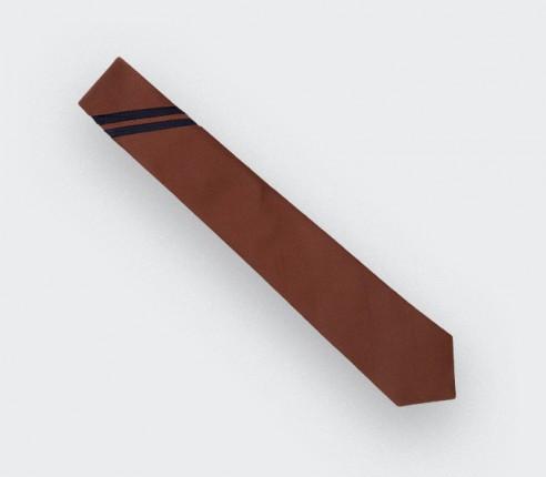 Cravate Monorayure Piécé Rouille - Cinabre Paris