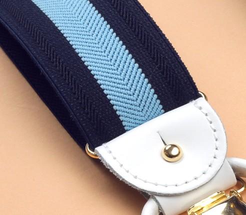 Navy and Sky Striped Braces - Cinabre Paris