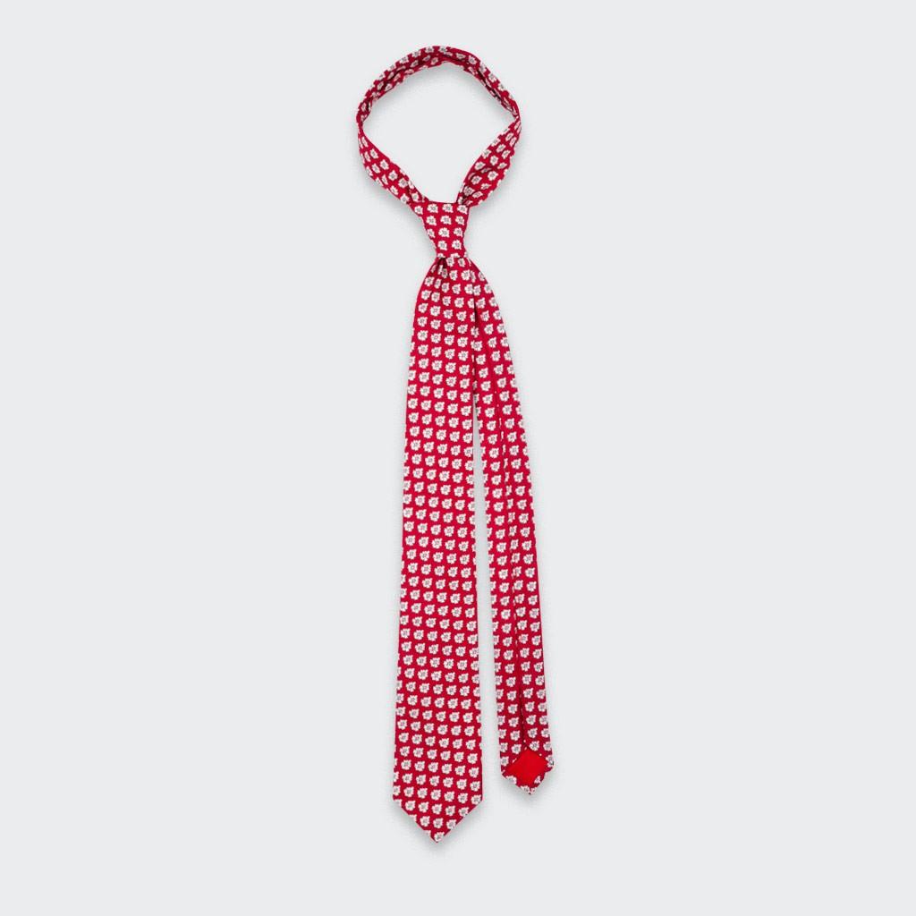 Cravate Provence Rouge - Cinabre Paris