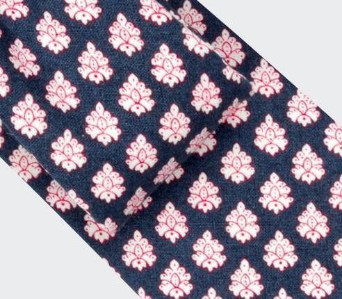 Cravate Provence Marine - Cinabre Paris