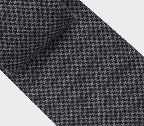 Cravate Pied de Poule Gris Anthracite - Cinabre Paris