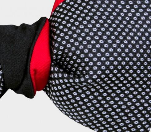 Birdseye Satin bow tie - Cinabre Paris