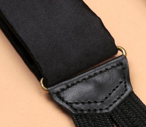 Black Satin Braces - Cinabre Paris