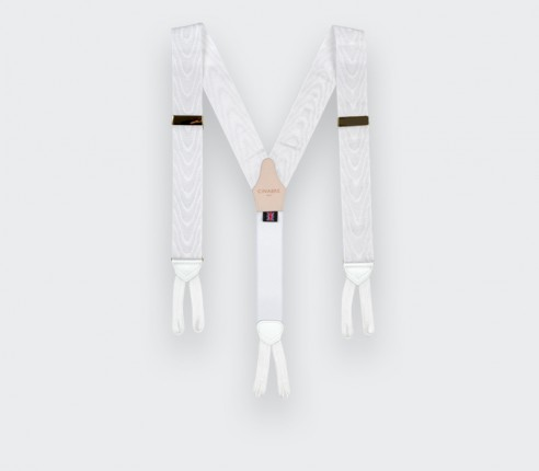 Bretelles Moiré Blanc - Cinabre Paris