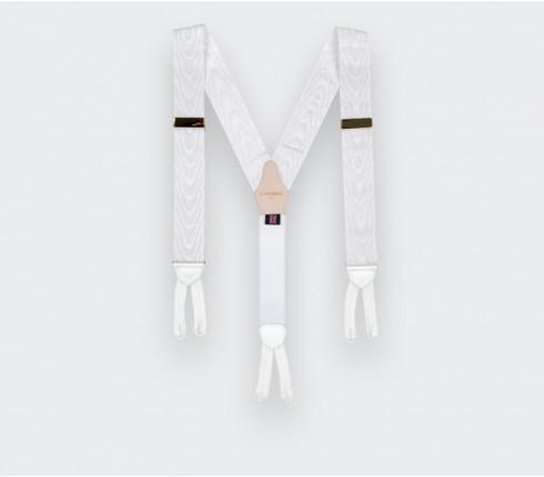 White Moiré Braces - Cinabre Paris