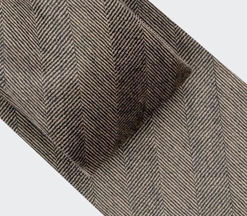 Cravate Chevron Marron - Cinabre Paris