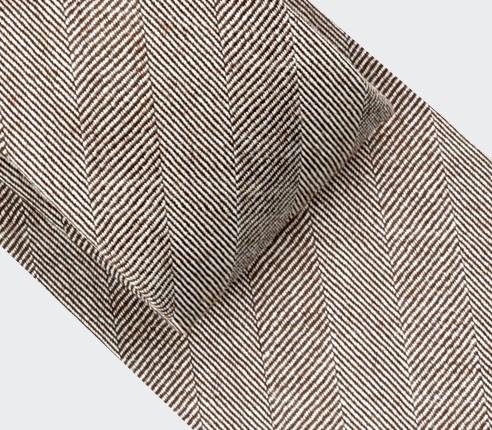 Light Brown Herringbone Tie - Cinabre Paris