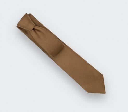 Cravate Flanelle Camel - Cinabre Paris