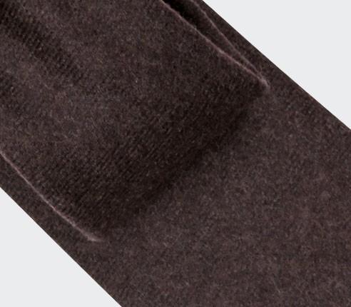 Dark Brown Flannel Tie - Cinabre Paris