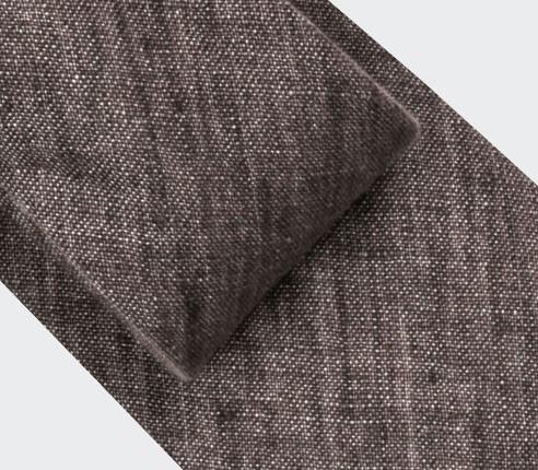 Cravate Lin Marron - Cinabre Paris