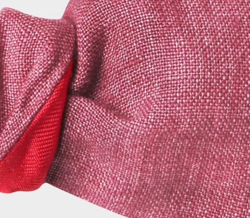 Raspberry Linen Kid Bow Tie - CINABRE Paris