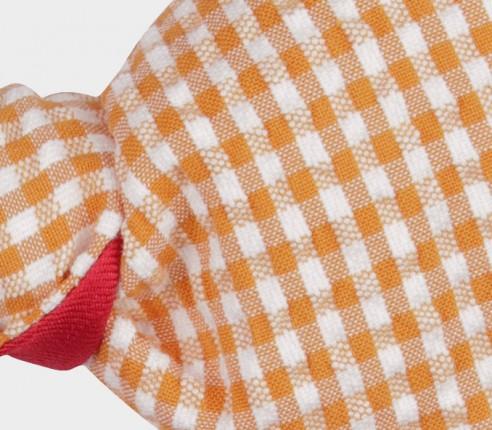 Yellow Gingham Seersucker Kid Bow Tie - Cinabre Paris
