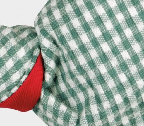 Green Gingham Seersucker Kid Bow tie - Cinabre Paris