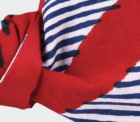 Red waves Wax Kid Bow Tie - CINABRE Paris